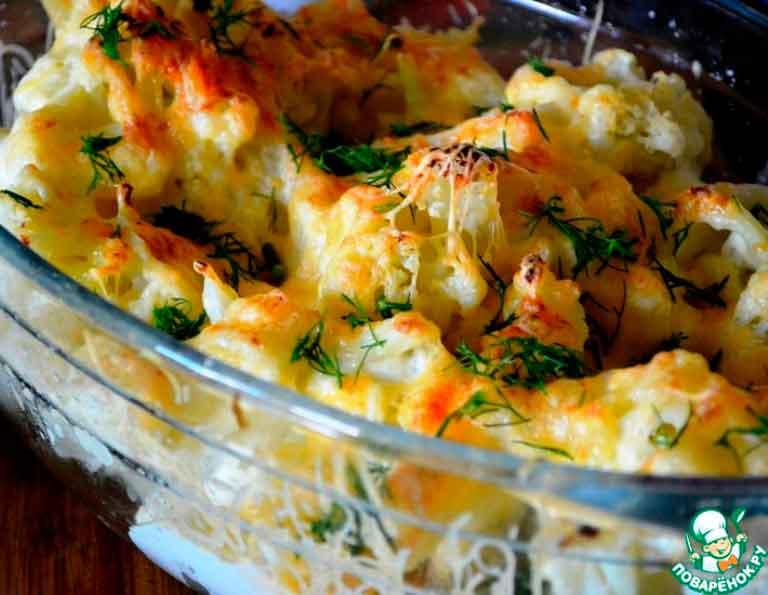 Рецепт приготовления цветной капусты