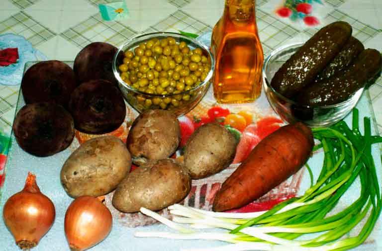 Необходимые-овощи-для-винегрета.