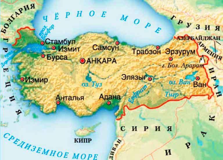 Турция-граничит-с-Сирией